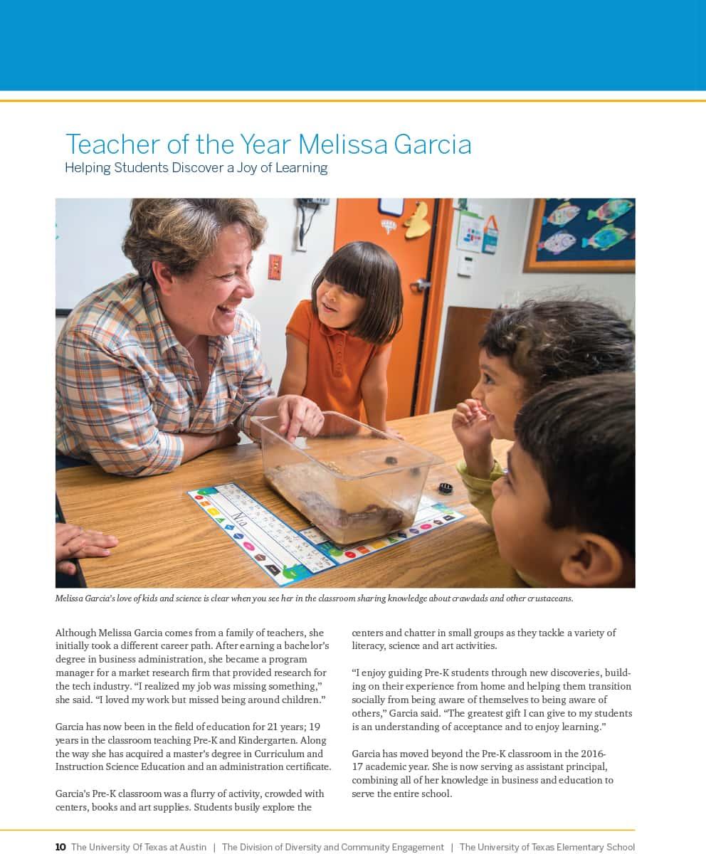 Melissa Garcia Teacher of Yr